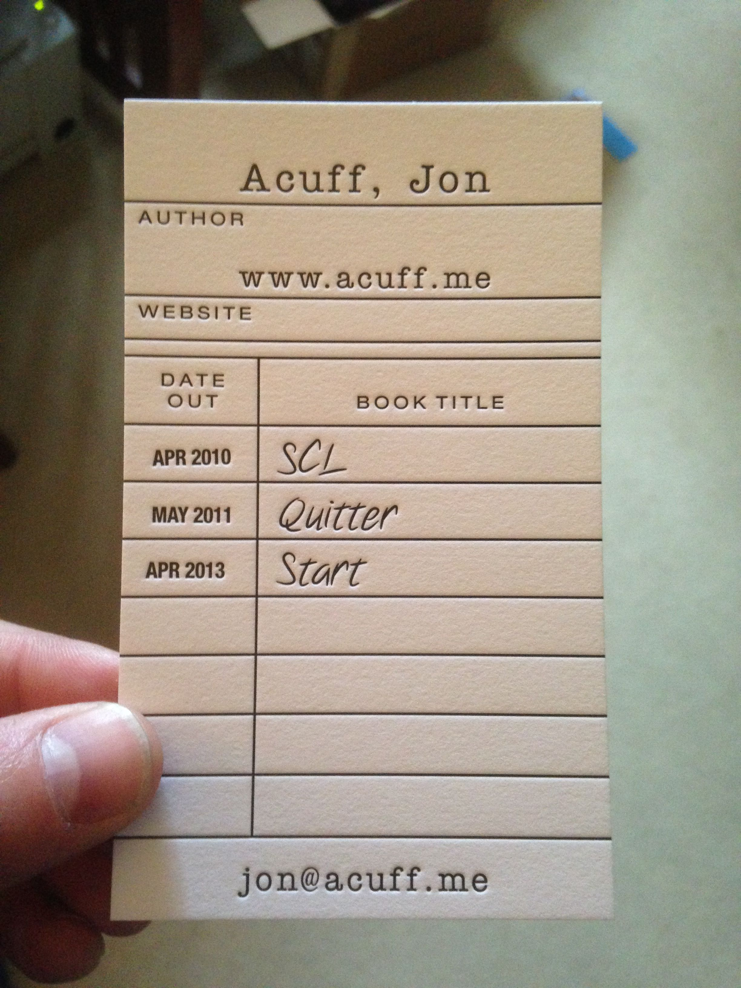 Don\'t do boring. Or, my new business cards. - Jon Acuff
